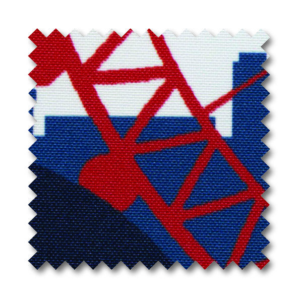 'City Scape, Rule Britannia' A close up of this lovely fabric
