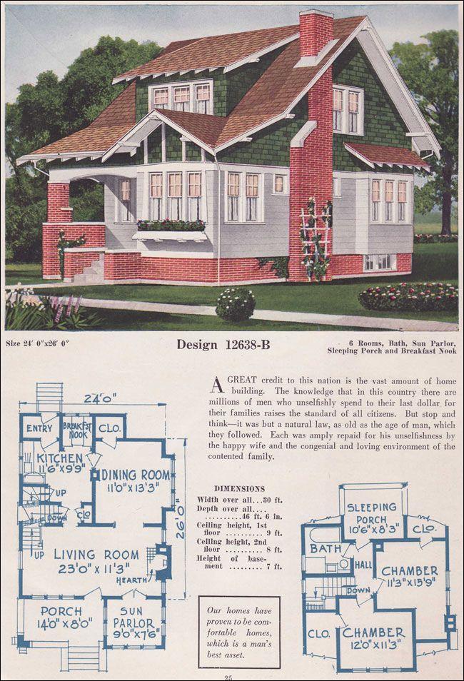1925 c l bowes 12638b i am in love when i built a house for 1925 bungalow floor plan
