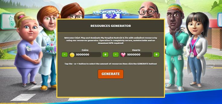 - Unlimited Coins - Unlimited Hearts  My Hospital Hack Online:  http://resources-generator.online/my-hospital.html