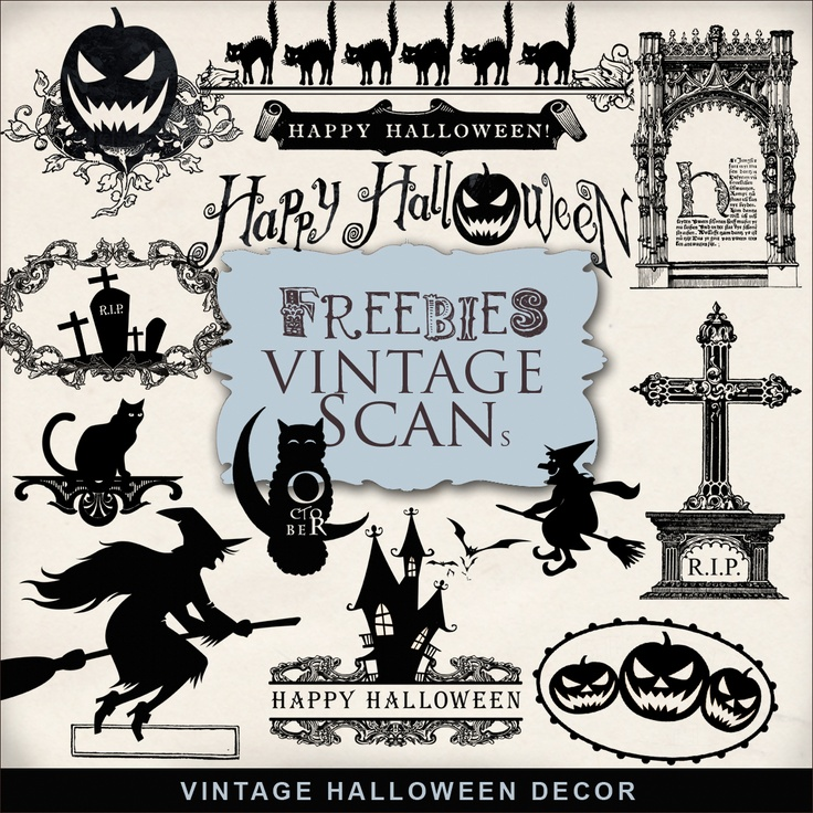 Far Far Hill: Freebies Kit of Vintage Halloween Decor, but look around her blog for lots of freebies, and inexpensive downloads.