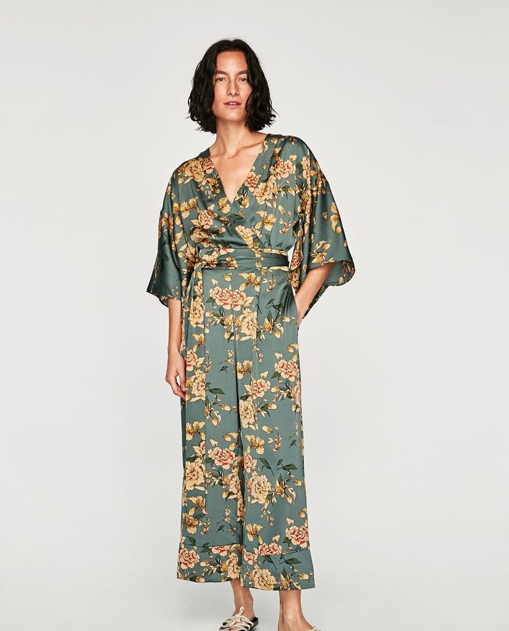 Thank you, Zara, for making a satin kimono jumpsuit a legitimate choice for everyday style.