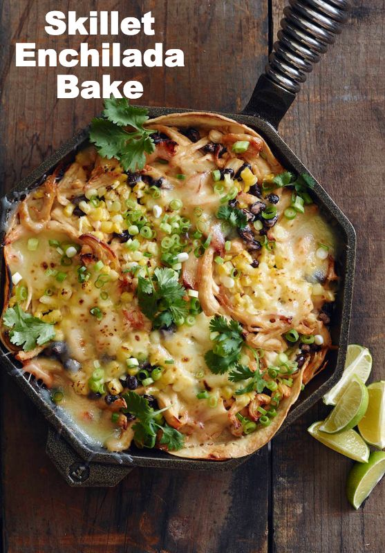 Skillet Chipotle Chicken Enchilada Bake from www.whatsgabycooking.com (@whatsgabycookin)