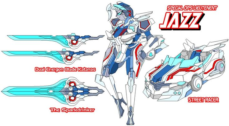 """AUTOBOT SPECIAL OPS JAZZ ALTERNATE MODE; Japanese Import Street Racer ENERGON ABILITY; Psionic Precognition (Limited) VOICE ACTOR; Wendee Lee THEME SONG; P!nk """"God Is a DJ"""" She is perhaps the most ..."""