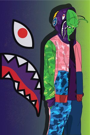 Abi childhood series cartoons meet bape art - Hood cartoon wallpaper ...