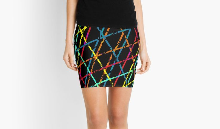 Colorful lines Mini Skirt  by Emily Pigou. Inspired by the 60's era and its psychedelic colors and  style #colorful #miniskirt #mini #skirt #retro #style #fashion #60s #redbubble  #gifts #lines #modern #family #online #shopping #giftsforher #xmasgifts #christmasgifts #39 #1960 #60sfashion #art #design #pattern #pop #popart     • Also buy this artwork on home decor, apparel, stickers, and more.
