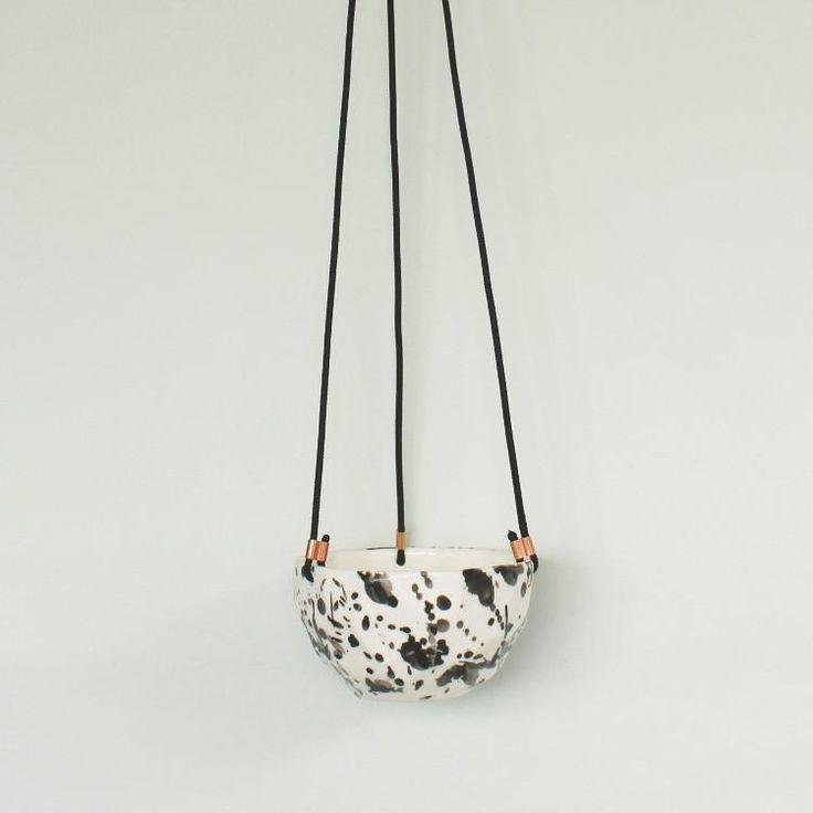 JS Ceramics | Splatter Hanging Planter