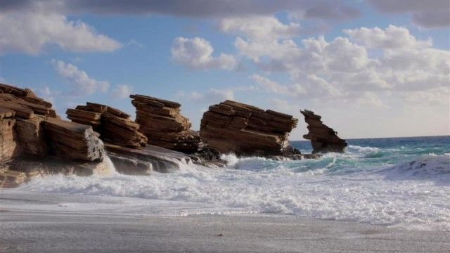 """Stormy Triopetra beach / Breathtaking Triopetra, just before """"sailing"""" in the stormy, winter sea of the south - CRETAZINE ♥ #Crete as we live it!"""