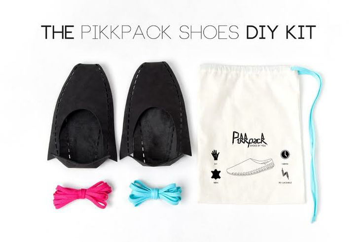 The Flat-packed @Pikkpack Shoes by YOU #DIY #kit on #kickstarter #now!