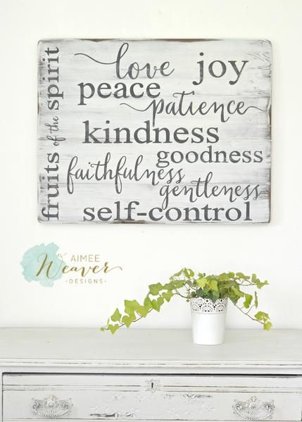 """""""Fruit of the Spirit"""" Wood Sign by Aimee Weaver Designs"""