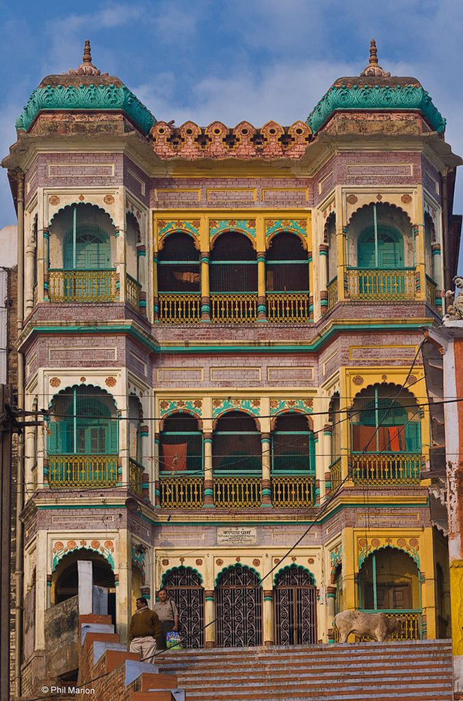 Colorful home in Varanasi, India