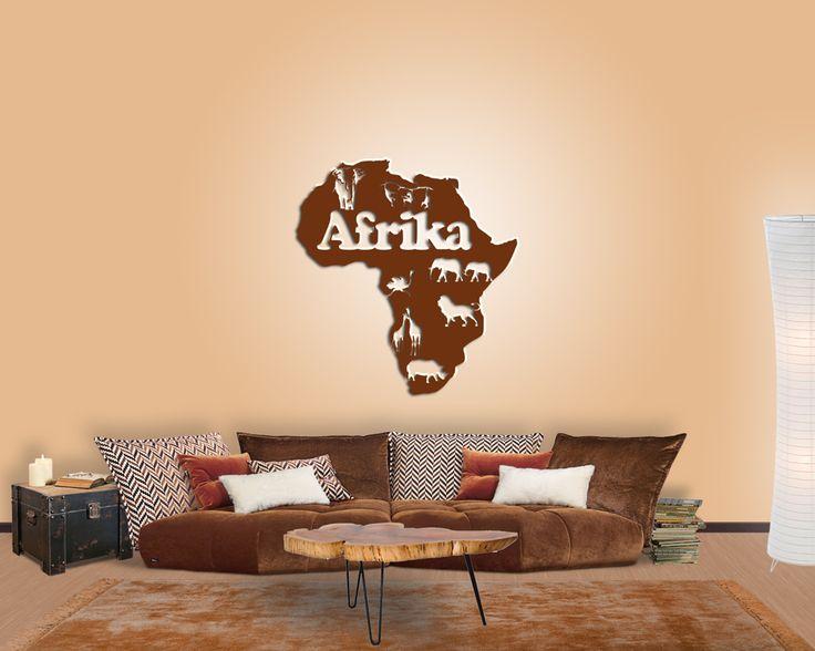 Afrika-Fans aufgepasst! Mit dieser exotischen #Wanddeko holt ihr - wohnzimmer deko wand