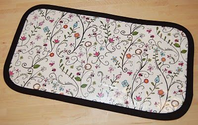 baby changing mat with vinyl top