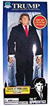 •You're fired! Be honest. You knew that Donald Trump would release an action figure. •And you knew it would say phrases from The Apprentice. And you knew that you would buy it, because it promises hours and hours and hours of fun. •This 12-inch action figure includes clothing and accessories and features 17 Trump phrases in high-quality sound. •Click here to listen to one of 'The Donald's' gems! •, Such phrases as: 'I should fire myself just for having you around' 'Think big and live large'…