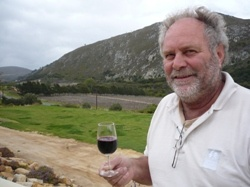 """Piet """"Raka"""" Dryer (* 1953), the """"King of Calamari"""" and Lord of the Kleinriviersvlei (South africa)."""
