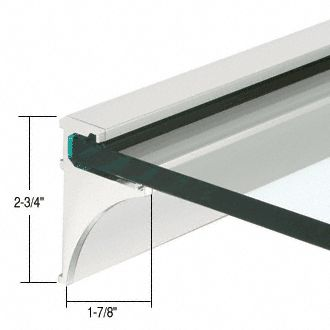 CR Laurence glass shelf support Glass shelf brackets