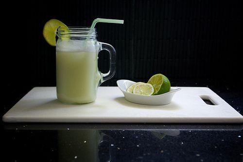 Brazilian Lemonade (recipe Sunset Magazine) 3 limes, quartered 1/3 cup ...
