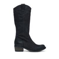 Zwarte cowboy laarzen van nubuck | Dames - MANFIELD