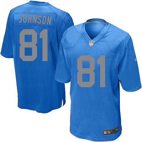 mens nike detroit lions 81 calvin johnson limited blue alternate nfl jersey
