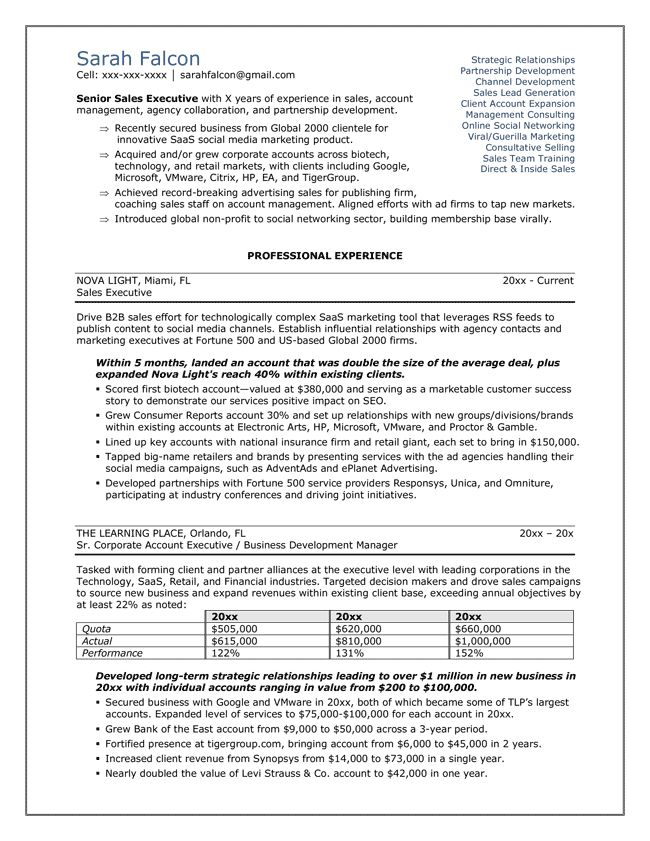 58 best resumes letters etc images on Pinterest Resume examples - sample resume sales executive