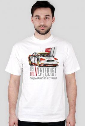 Audi V8 Quattro DTM 1991 Titel Verteidigt (koszulka męska)