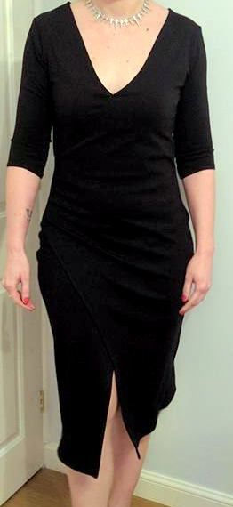 McCalls M6884 View A lengthened - vintage glam wrap dress by Crafty Clyde