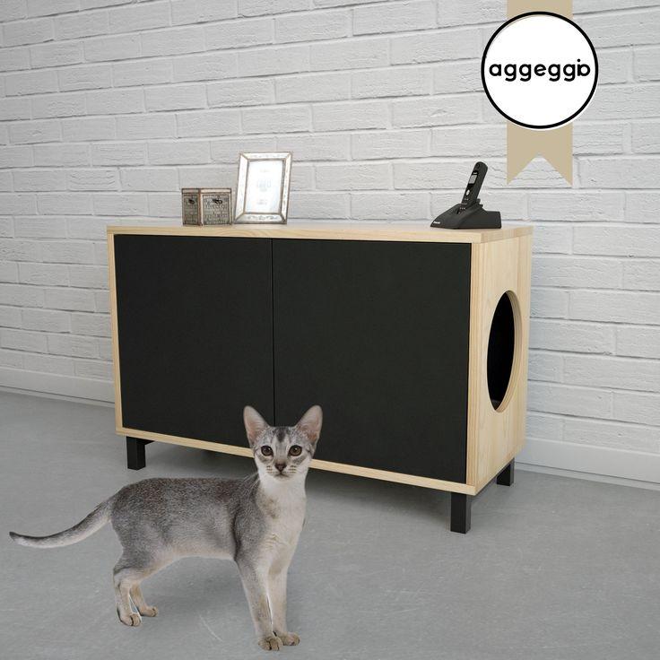FLORA5, mueble portalitera. Para esconder la bandeja de las piedras sanitarias de tu gato.