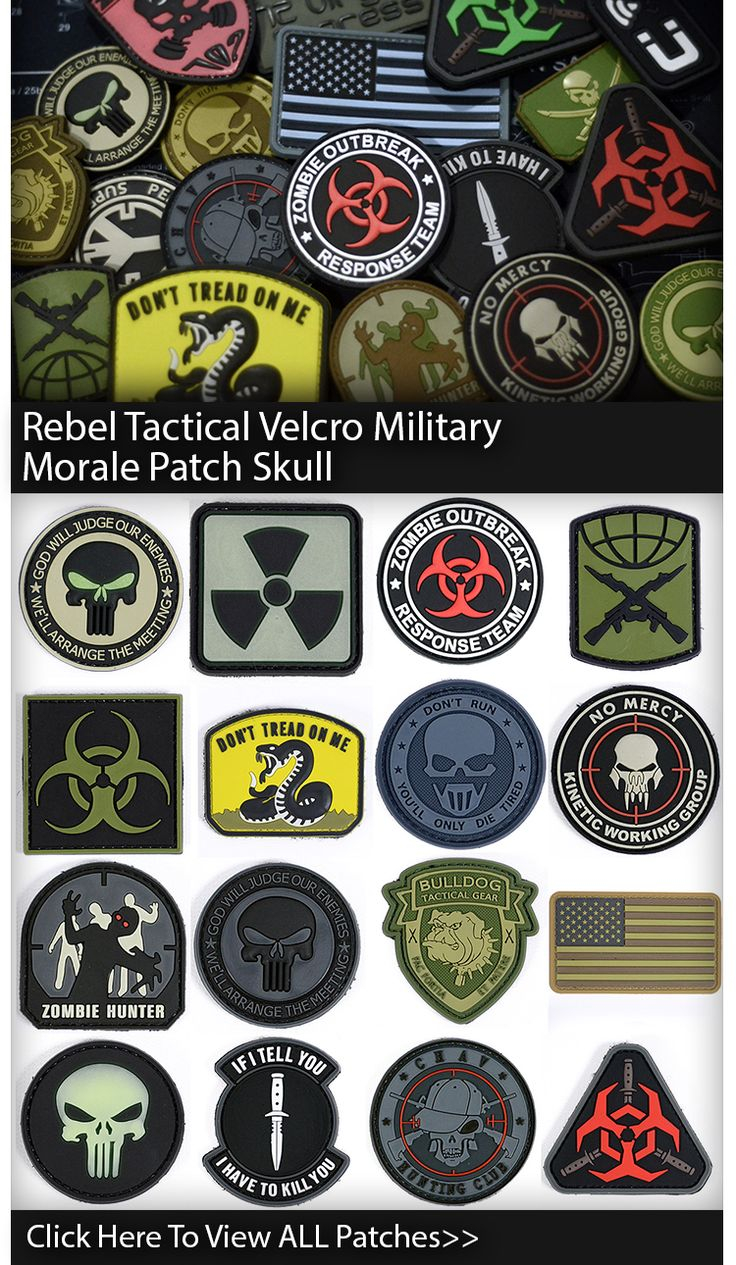 Rebel Tactical Velcro Military Morale Patches