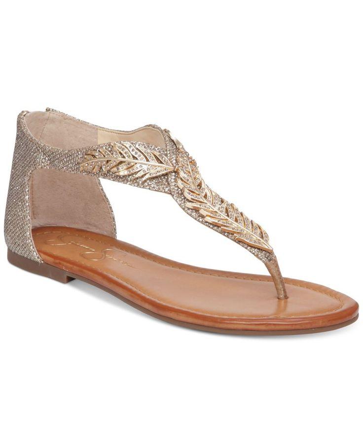 Jessica Simpson Kalie Embellished Flat Thong Sandals