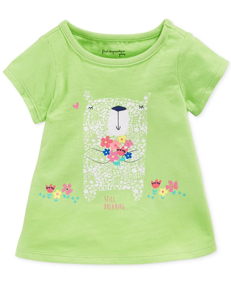 First Impressions Baby Girls' Bear Bouquet Tee - Kids Baby Girl (0-24 months) - Macy's