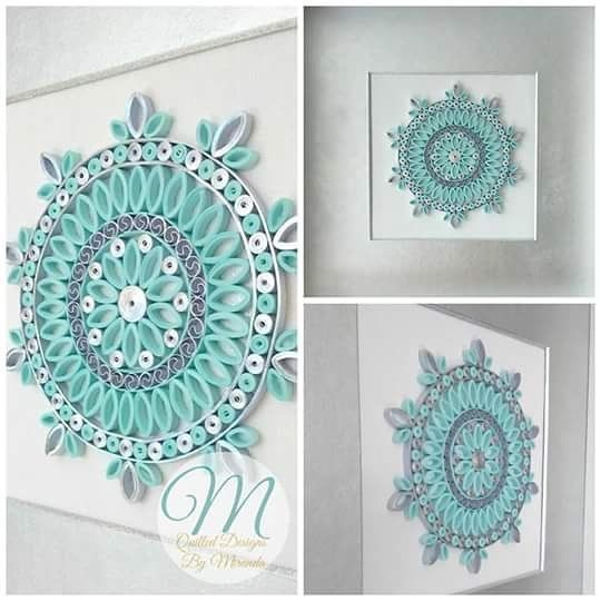 Remember, if flowers are not your thing ask about a custom mandala. I can do them in any colours. How about #rainbow or solid #gold #mandala #quilled #quilling
