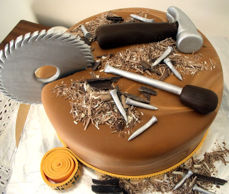 Delana's Cakes: Wood work cake