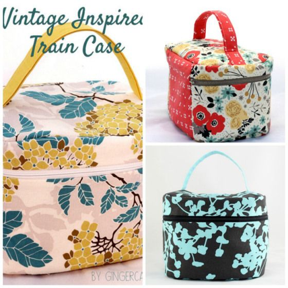 Vintage Style Train Case - PDF Sewing Pattern from Gingercake - Sew and Sell!