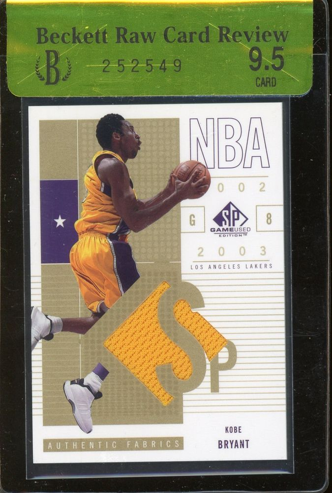 949693ee809 2002-03 SP Game Used Edition Kobe Bryant Lakers Jersey BGS 9.5 RCR  BGS95   SportsCards