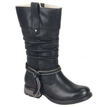 This is a brand new style for Autumn and it certainly is very different. With its overlay appearance on the leg and the rope trim detail on the ankle. They have a side zip making these boots easy to get on. http://www.marshallshoes.co.uk/womens-c2/rieker-womens-daytona-black-high-leg-boot-97279-00-p3891