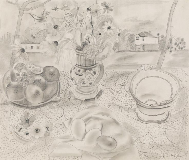 Frances Hodgkins 'Still Life', c.1929   graphite © The estate of Frances Hodgkins