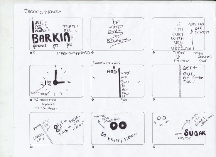 examples of storyboards for kinetic typography - Google Search