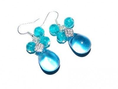 Kolczyki Turkusowe Krople #earrings #kolczyki