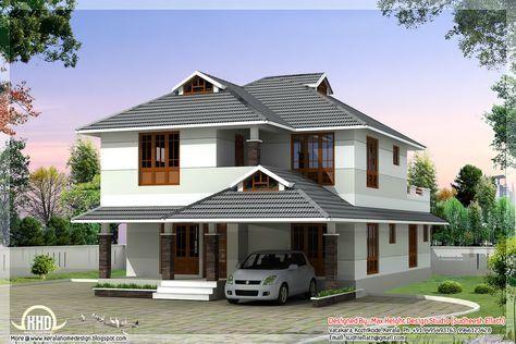 1760 Sq Feet Beautiful 4 Bedroom House Plan Kerala House Design Simple House Design Bungalow House Plans