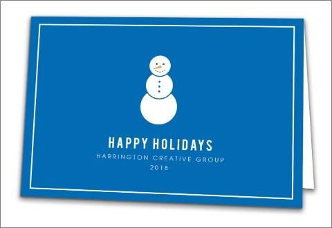 123print business holiday cards modern snowman for 123print business cards