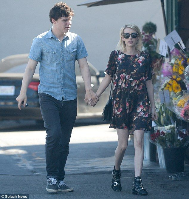 Love is in the air: Emma Roberts and her boyfriend Evan Peters were spotted enjoying a day...