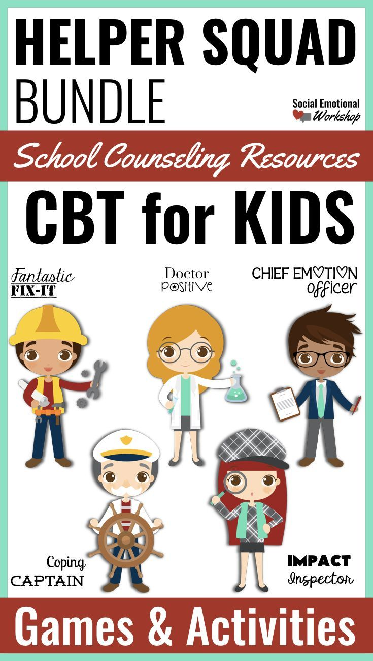This is a growing bundle of cognitive behavioral therapy (CBT) resources for small group counseling or individual counseling. The components are focused on helping studens understand their feelings, manage negative thinking, develop coping skills, take the perspectives of others, and problem solve situations. Games, hands-on activities, lessons, and reinforcement plans are included.
