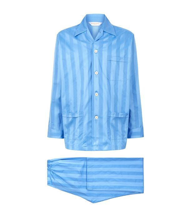 Derek Rose Lingfield Cotton Stripe Pyjama Set available to buy at Harrods.Shop clothing online and earn Rewards points.