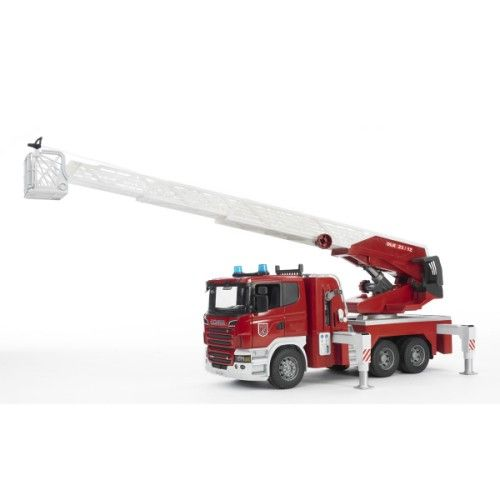 Camion pompier avec échelle et pompe à eau fonctionnelle Bruder pour enfant de 4 ans à 8 ans - Oxybul éveil et jeux