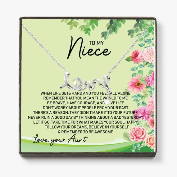 To My Niece When Life Gets Hard Necklace Niece Etsy In 2021 Happy Birthday To Niece Niece Quotes Niece Jewelry