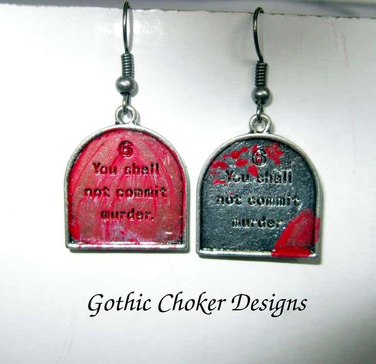 Altered 10 commandment earrings.  R60