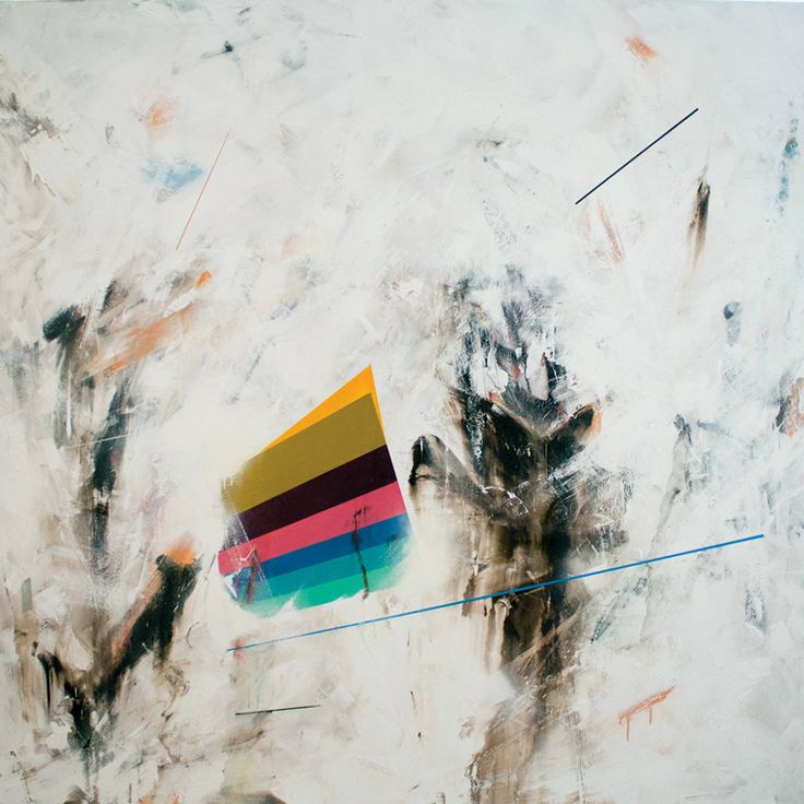 Beneath the city's tears - 2011  Mixed media on canvas   210cm x 210cm    Private collection