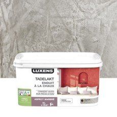Enduit décoratif, Tadelakt LUXENS, gris poivré 5, 5 l