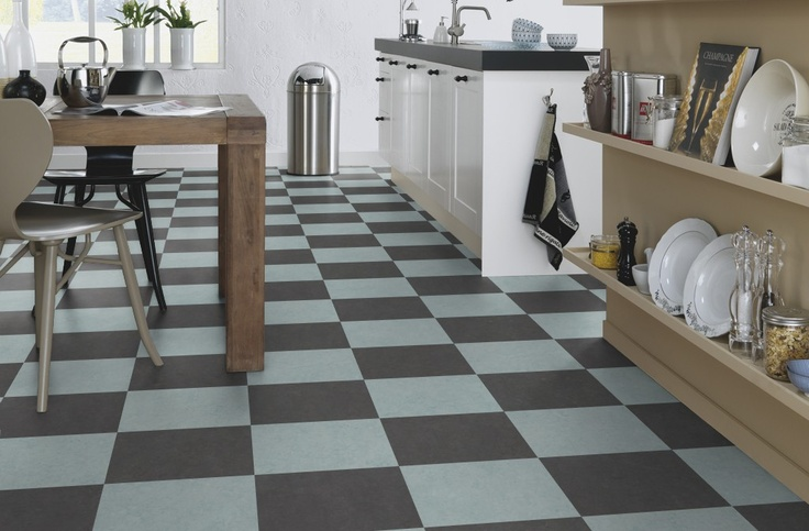 Marmoleum Click Volcanic Ash Amp Blue Sky With Images Flooring Kitchen Flooring Marmoleum