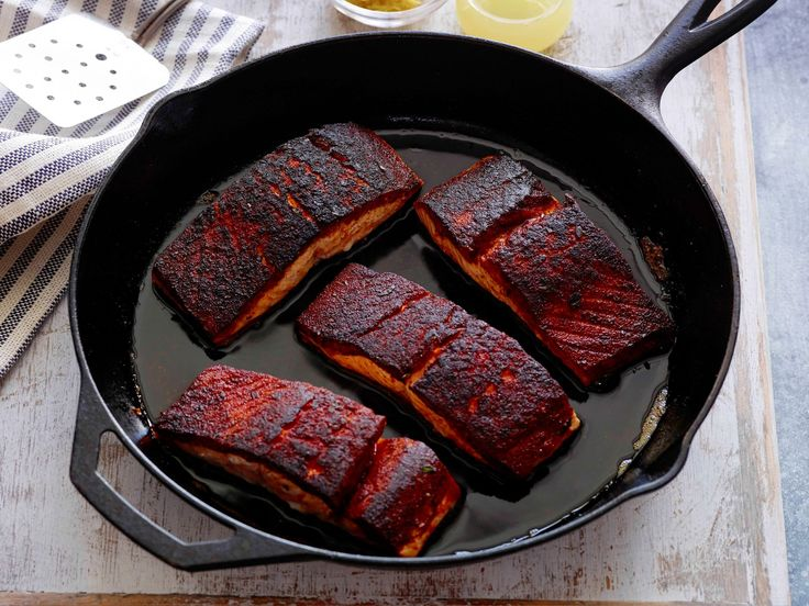 Blackened Salmon : When you can prep and cook dinner in less than 15 minutes, you know it's going to be one of your go-tos. And when you're cooking with spices like paprika, cayenne and thyme, less time definitely doesn't mean less flavor.