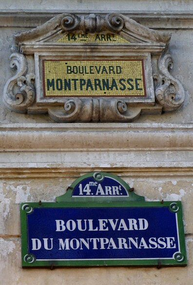 Le boulevard du Montparnasse (Paris 6e/14e/15e).